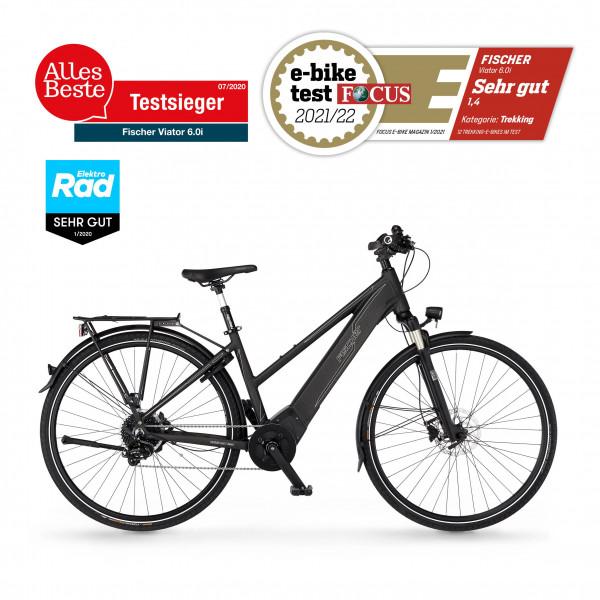 FISCHER Damen Trekking E-Bike VIATOR 6.0i - 504 Wh, 28 Zoll, RH 44 cm