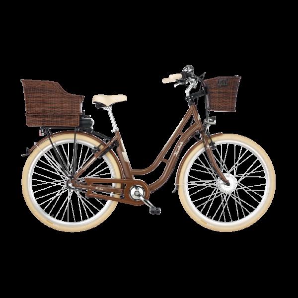 FISCHER ER 1804 Damen City E-Bike 28 Zoll RH 48 Nussbraun MJ 2019 (B-Ware / Generalüberholt)