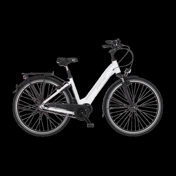 FISCHER City E-Bike CITA 3.1i - 504 Wh, 28 Zoll, RH 44 cm, Weiß matt