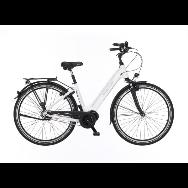 FISCHER City E-Bike CITA 3.1i - 418 Wh, 28 Zoll, RH 44 cm, Weiß matt (B-Ware / Generalüberholt)